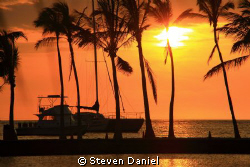 Big Island Sunset by Steven Daniel 
